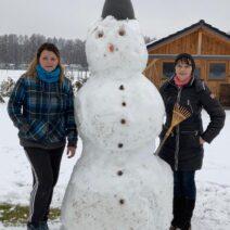 2021_01_03 Winterfitness - Schneemannbau der Familie Muschter in Ortrand