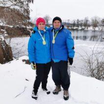 2021_01_16 5_ Am Steinbruch Wolfsberg, Winterjasmin gefunden - Kerstin und Frank Thomas